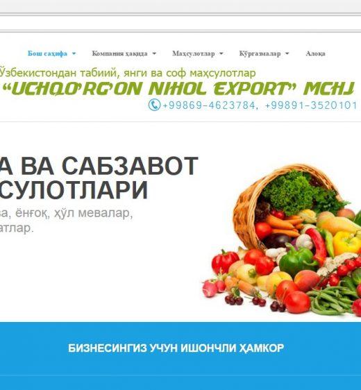 Uchqo'rg'on Nihol Export.uz